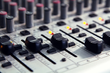 Mixer to adjust the sound and recording