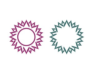 Purple and Teal Sunflower Logo