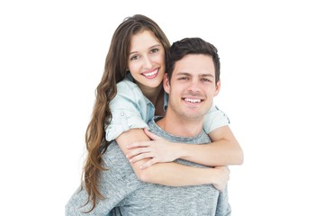 Couple embracing with arms around