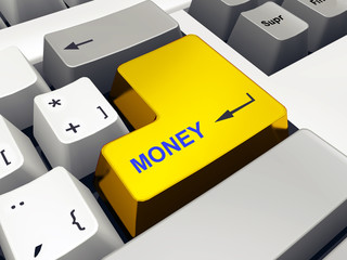 Computer keyboard with Money key