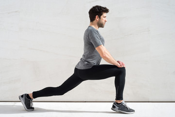 Man stretching quadriceps