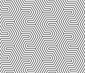 Vector seamless texture. Modern abstract background. Repeated monochrome pattern of polygonal lines forming geometric shapes.