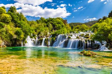 Deurstickers Watervallen Waterfall In Krka National Park -Dalmatia, Croatia