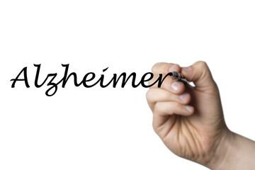 Papier Peint - Alzheimer written by a hand