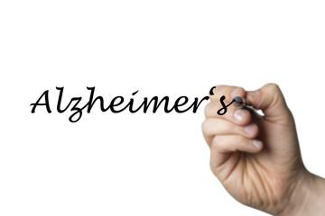 Papier Peint - Alzheimers written by a hand