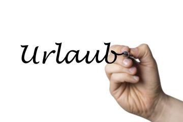 Papier Peint - Urlaub written by a hand