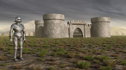 Ritter und mittelalterliche Burg