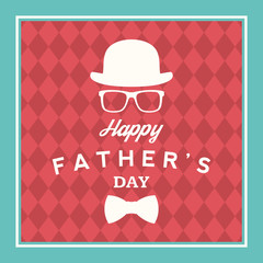 happy fathers day vintage card. vector illustration