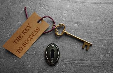 The key to success lock