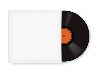 record vinyl with clipping path