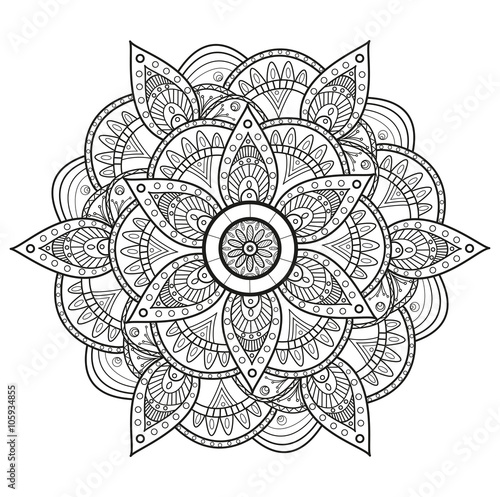 Black And White Mandala Vector Mandala In Bianco E Nero Da Colorare