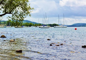 Lake Windermere in the English Lake District.