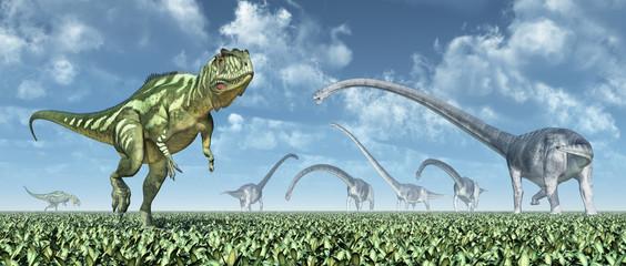 Yangchuanosaurus and Omeisaurus