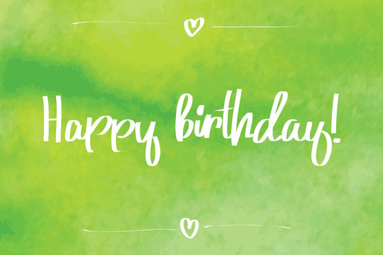 Happy Birthday Script green