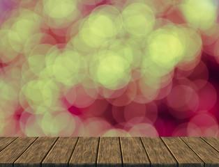 defocused christmas bokeh light for background