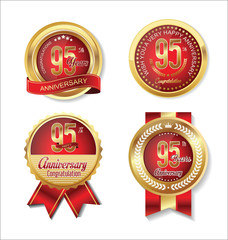 Anniversary golden badges collection 95 years