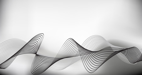 Smoke background. gray scale, Abstract vector Illustration