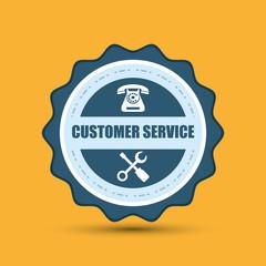 phone and customer service icon design
