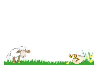 wielkanocny baranek i jajo