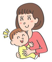 ママ 赤ちゃん 笑顔