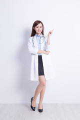 medical doctor woman with stethoscope