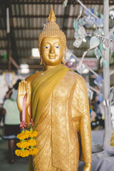 Statue of Buddha gold Thailand