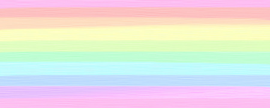 blended wide stripes of thick paint in bright pastel rainbow colors