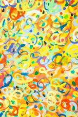 """Gemälde """"Das Fest"""" (Ausschnitt) von Carola Vahldiek (Gouache-Farben auf Leinwand)"""