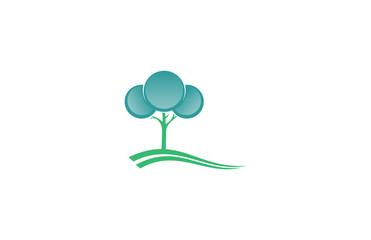 tree landscape abstract logo