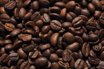 Кофейные зерна крупным планом