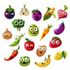Fruit Ands Vegetable Emoji Set