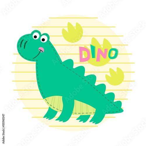 Dinosaur vector illustration.