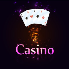 beautiful casino banner, vector