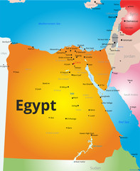 Vector color map of Egypt
