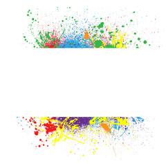 Ink splash frame