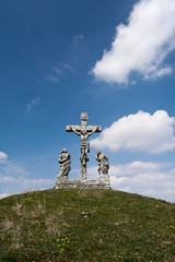 Calvary crucifixion sculpture in Istria, Croatia