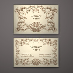 Business card  in Baroque Style.