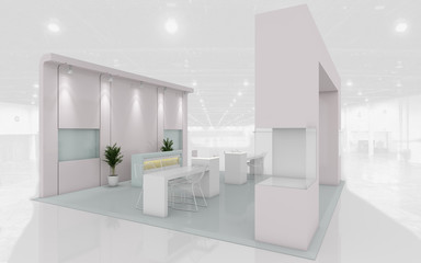 Exhibition Stand in Pastel colors