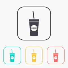 Vector drink icon. Eps10