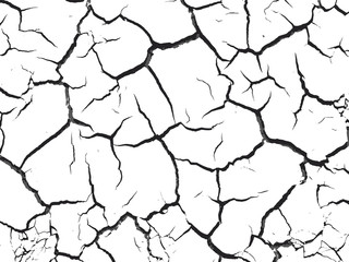 Texture of cracked land