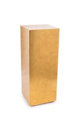 Tall Golden Rectangular Pedestal Cut-out
