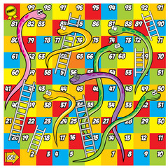 Colorfull Snake and Ladder Game