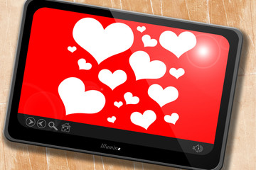 Hearts love background