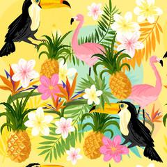 Vintage Seamless tropical Pattern