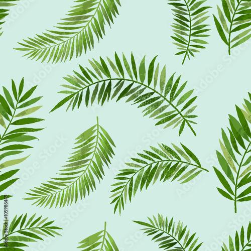 Vintage Seamless Palm Leaf Pattern