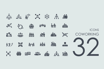 Set of coworking icons