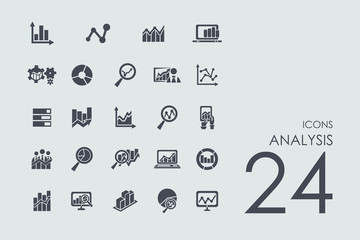 Set of analysis icons