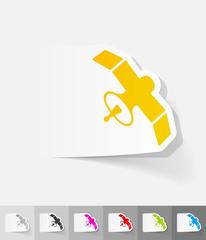 realistic design element. satellite