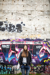 Urban portrait of a beautiful woman