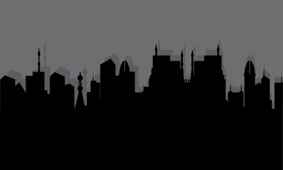 Silhouette of the historic town